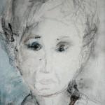 אישה  עצובה מתאבלת